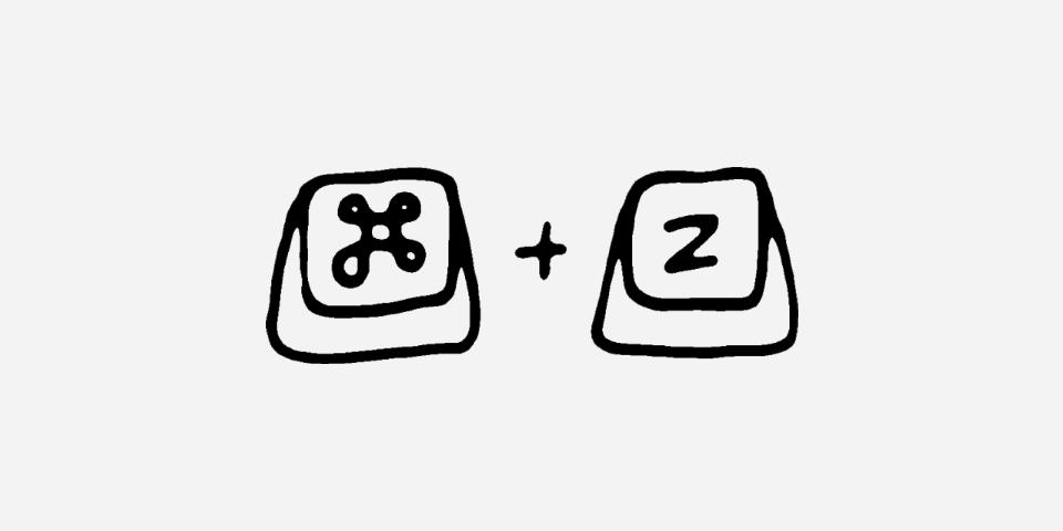 Illustration der Tastenkombination Command und Z