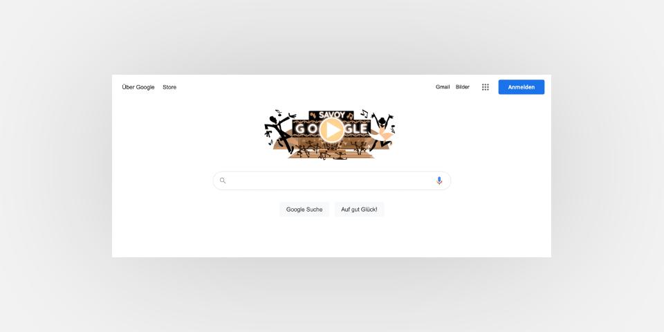 Screebshot der Google Startseite